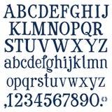 Números e molde do projeto do logotipo do vetor das letras ilustração do vetor