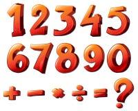 Números e símbolos matemáticos ilustração do vetor