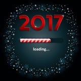 Números 2017 e uma barra de carga Imagens de Stock Royalty Free