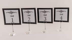 Números elegantes de la tabla Imagen de archivo