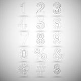 Números elegantes y otro de la malla tridimensional Fotos de archivo libres de regalías