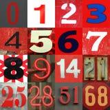 Números 0 15 em tons vermelhos Imagens de Stock Royalty Free