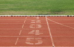 Números em trilha running Fotografia de Stock