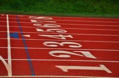 Números em uma trilha Running Foto de Stock Royalty Free