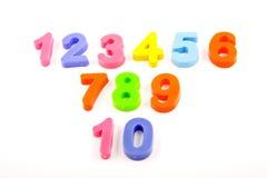Números en el fondo blanco Imágenes de archivo libres de regalías