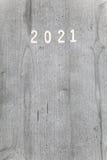 Números en fondo y x28; cubierta del calendar& 2021 x29; Fotos de archivo libres de regalías
