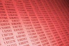 Números en un monitor del ordenador Fotos de archivo