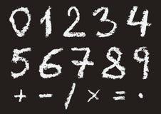 Números escritos mão do giz Ilustração Royalty Free