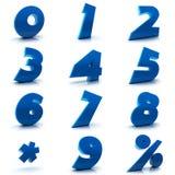 Números fijados ilustración del vector