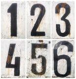 Números fijados Foto de archivo