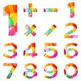 Números fijados, globos coloridos ilustración del vector