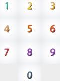 Números fijados, icono del web Fotografía de archivo libre de regalías