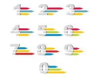 Números fijados Ilustración del vector Fotografía de archivo libre de regalías