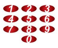 Números fijados Ilustración del vector Fotografía de archivo