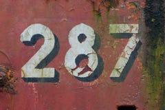 Números franceses Fotografia de Stock