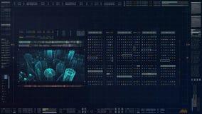 Números futuristas del código fuente Imagen de archivo