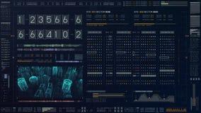 Números futuristas del código fuente Fotos de archivo libres de regalías