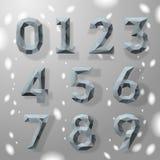Números geométricos do fractal cinzento na moda. Fotografia de Stock Royalty Free