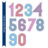 Números geométricos ordinários ilustração do vetor