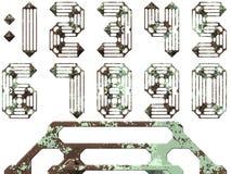 Números industriales Imagen de archivo