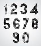 Números manchados negro stock de ilustración