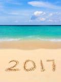 Números 2017 na praia Fotos de Stock