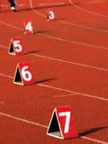 Números na trilha Imagens de Stock Royalty Free