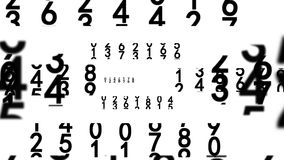 Números negros en blanco ilustración del vector