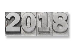 Números 2018 no branco Imagem de Stock Royalty Free