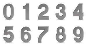 Números no fundo branco Ilustração 3d isolada Foto de Stock Royalty Free