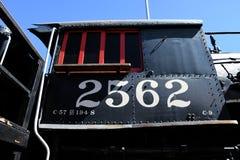 Números no trem imagens de stock