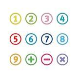 Números nos círculos Ilustração Stock