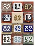 Números ochenta y dos fotos de archivo