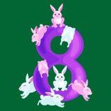 Números ordinais para as crianças de ensino que contam com a capacidade para calcular o jardim de infância do alfabeto do ABC dos Imagens de Stock Royalty Free