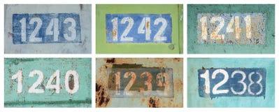 Números oxidados fotografía de archivo libre de regalías
