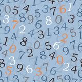 Números - papel pintado inconsútil Fotos de archivo libres de regalías