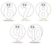 Números para los libros de colorante, parte 2 stock de ilustración