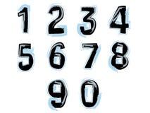 Números pintados Imagens de Stock