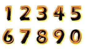 Números pintados Imagens de Stock Royalty Free