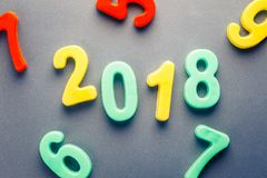 2018 números plásticos Fotos de Stock