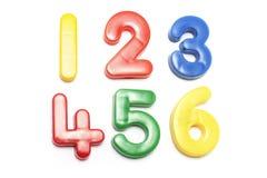 Números plásticos Foto de Stock Royalty Free