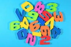 Números plásticos coloridos Fotos de Stock