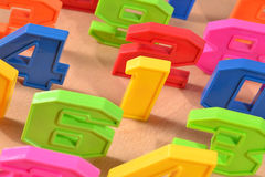 Números plásticos coloridos Fotografia de Stock