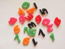 Números plásticos do brinquedo Imagem de Stock