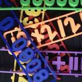 Números plásticos dos ímãs Foto de Stock Royalty Free
