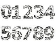 Números pretos com ilustração do vetor do teste padrão das impressões digitais Foto de Stock