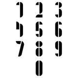 Números pretos simples no fundo branco Fotos de Stock Royalty Free