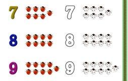 Números que colorean la paginación Foto de archivo libre de regalías