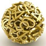 Números que formam uma esfera isolada Foto de Stock