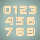 Números retros ajustados do vetor Fotos de Stock